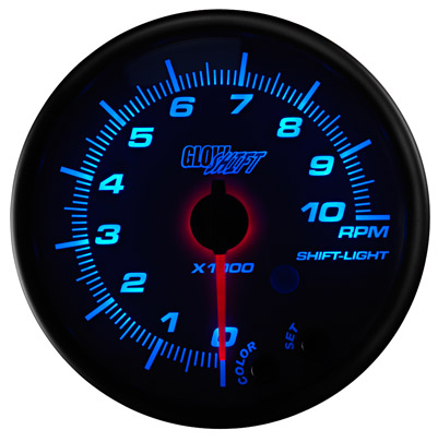 Extreme psi your 1 source for in stock performance parts glow shift white 7 color series 3 34 in dash tachometer gauge 28421 sciox Choice Image