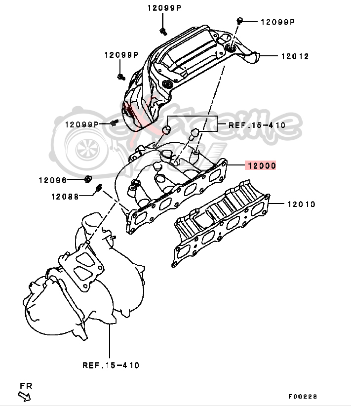 Exhaust Diagram Evo X