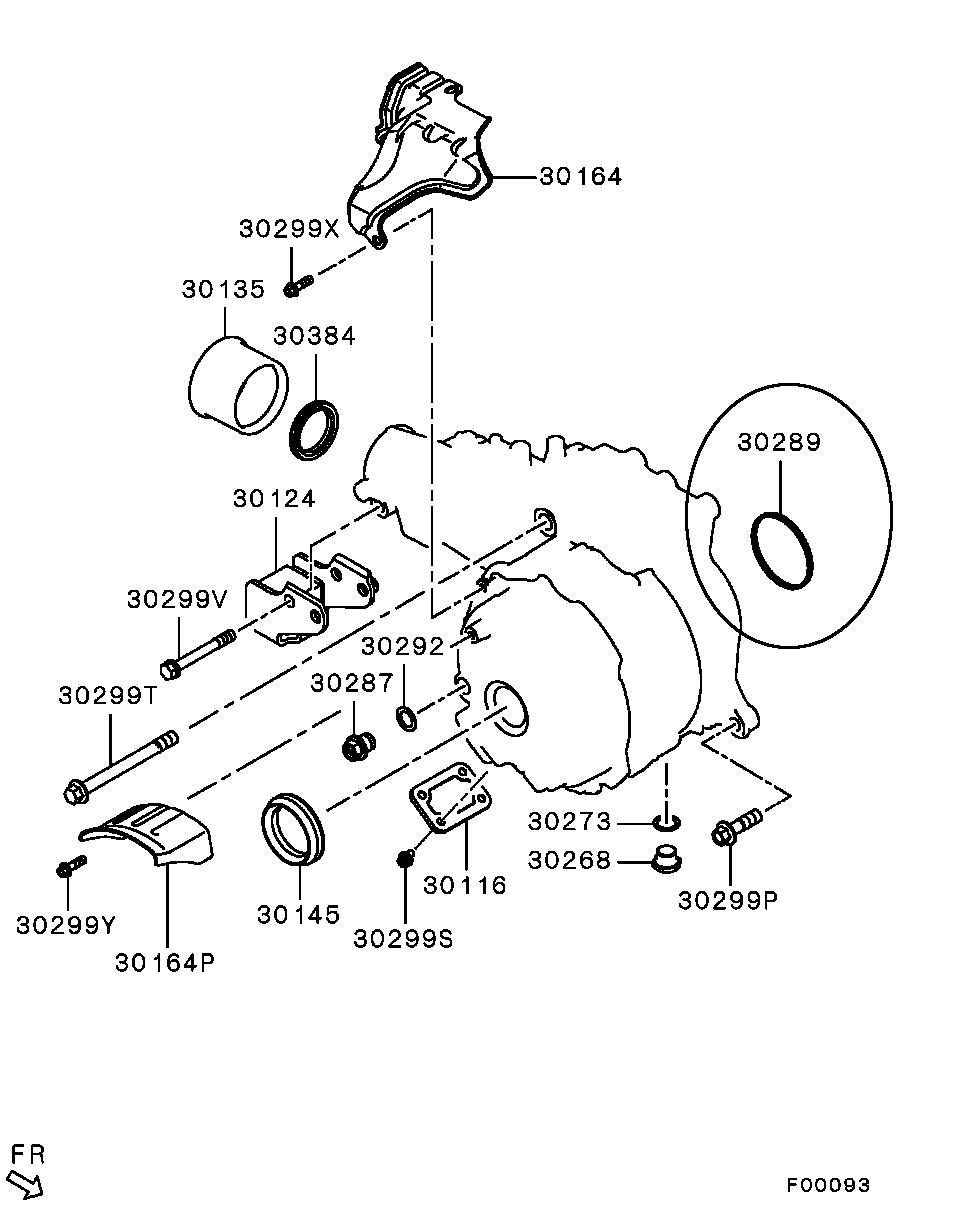 OEM Transfer Case to Transmission O-Ring (Smaller): Mitsubishi EVO X #30939