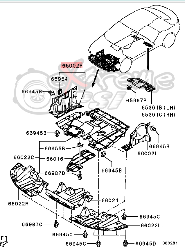 mitsubishi oem parts diagram