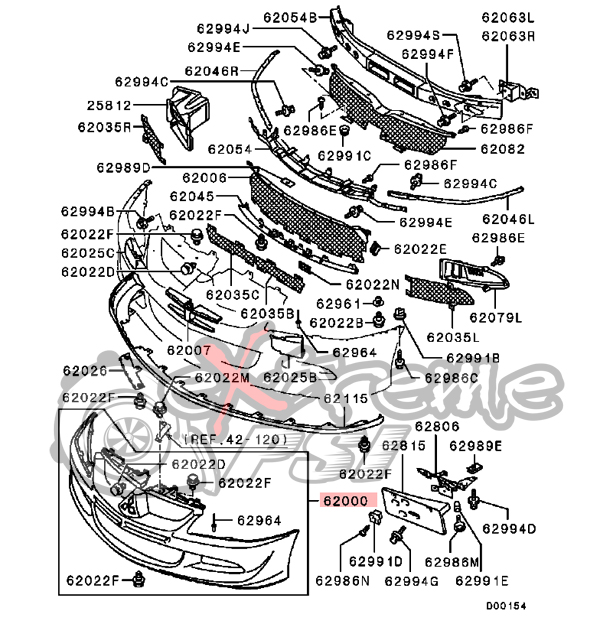 2000 ford focus front bumper parts diagram  ford  auto