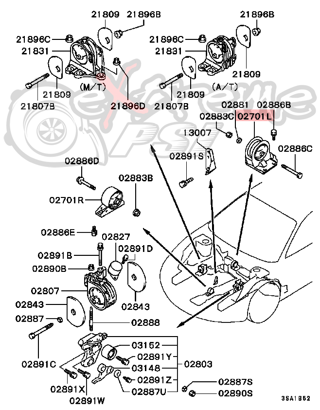 Oem Rear Engine Mount Bracket Manual Transmission Only Mitsubishi Eclipse 9599 31324: Mitsubishi Eclipse 2 0 Engine Diagram At Outingpk.com