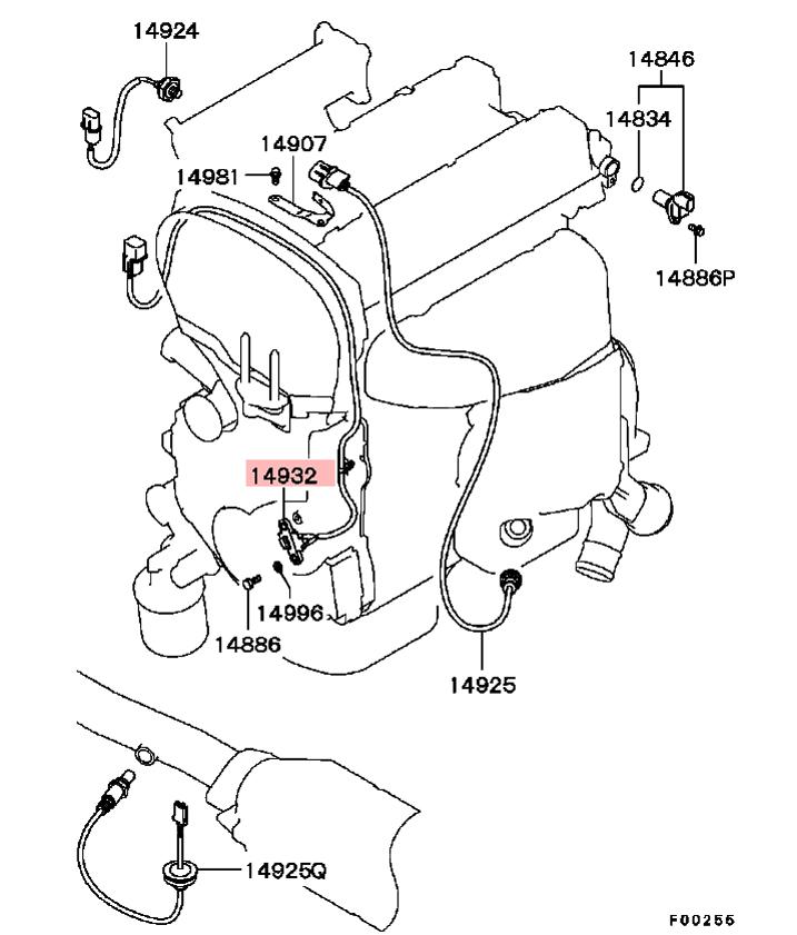 extreme psi your 1 source for in stock performance parts Knock Sensor Wiring Harness oem engine crank sensor crank angle sensor mitsubishi lancer evo viii ix 23290