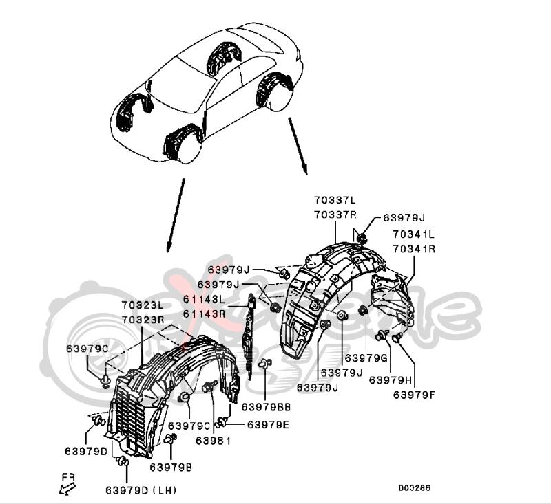 Passenger Side Fender Splash Shield For Honda Odyssey 2008-2010 New Front