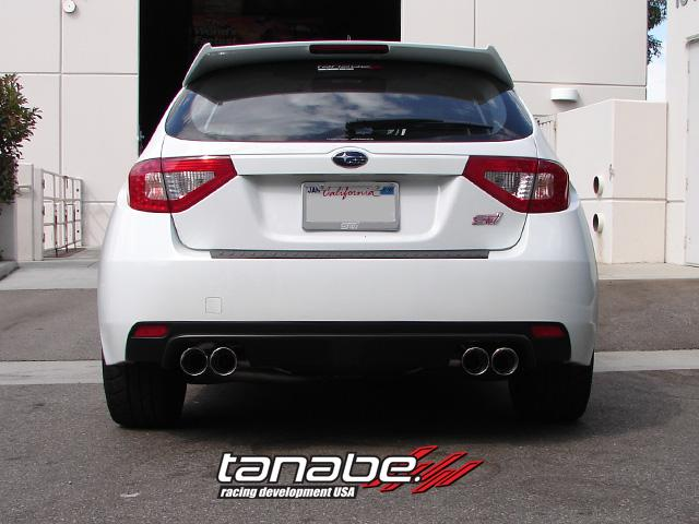 Tanabe Medallion Touring Quad Tips Catback Exhaust Subaru WRX STI 2008 30075