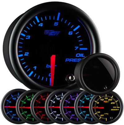 Glow Shift Tinted 7 Color BAR Oil Pressure Gauge