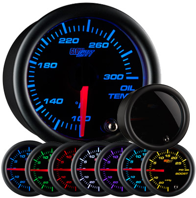 Glow Shift Tinted 7 Color Oil Temperature Gauge