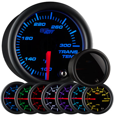 Glow Shift Tinted 7 Color Transmission Temperature Gauge