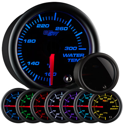 Glow Shift Tinted 7 Color Water Temperature Gauge