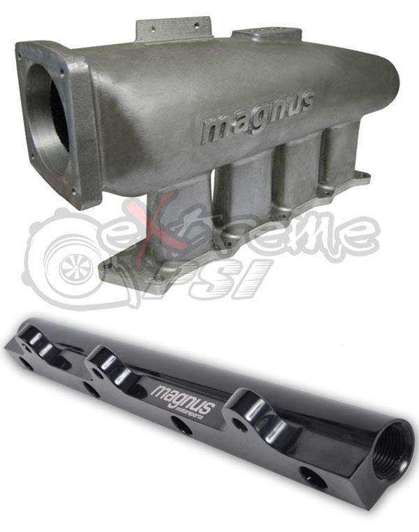 Magnus V3 Cast Aluminum Intake Manifold + FREE Magnus Fuel Rail Upgrade: 1G DSM / VR4