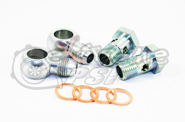 Extreme PSI -6AN Male Banjo Fitting 12mm x 1.5 Metric Aluminum + Washers Kit (Steel)