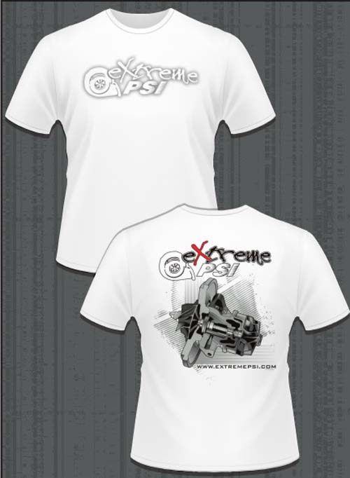 Extreme PSI Pre-Shrunk T-Shirt ver. 2 (White): Turbocharger CHRA