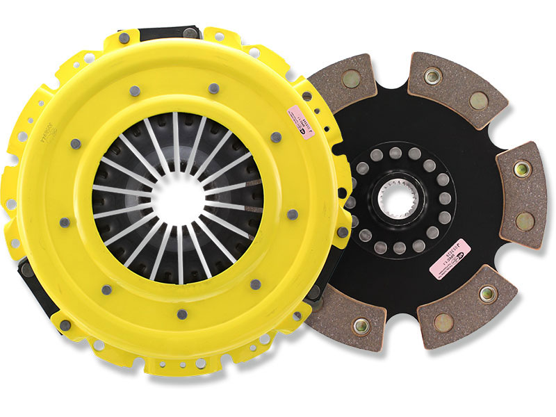 ACT Heavy Duty (Monoloc) 6-Puck Clutch Kit (w/ OEM Release Bearing): Mitsubishi Lancer EVO X GSR (5-speed)