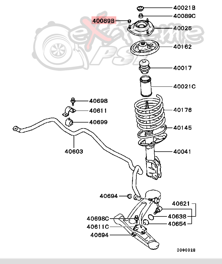 lancer evo 8 engine diagram
