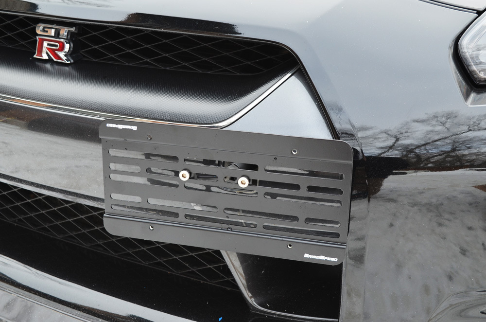 Grimmspeed License Plate Relocation Kit: Nissan GT-R 2011+