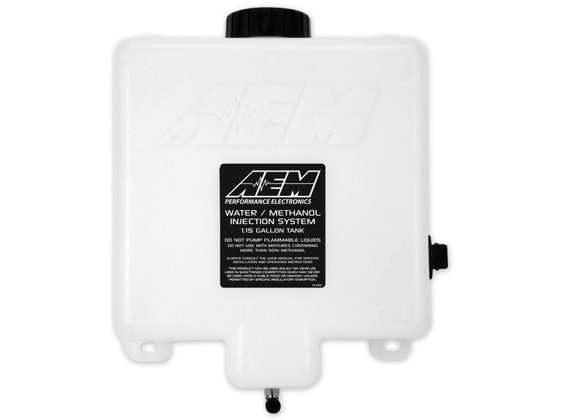 AEM V2 Water/Methanol Injection 1.15 Gallon Tank Kit with Anti-Starvation Reservoir and Conductive Fluid Level Sensor