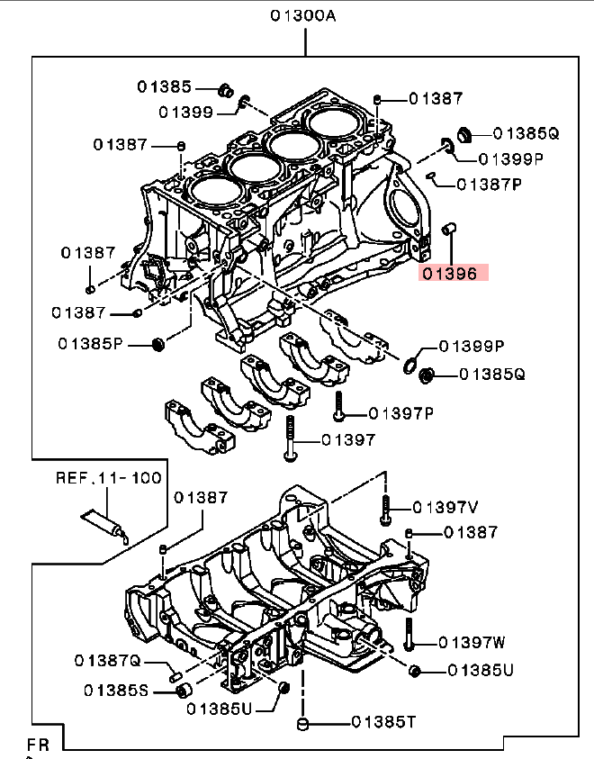 OEM Cylinder Block to Transmission Dowel Bushing: Mitsubishi Evolution X