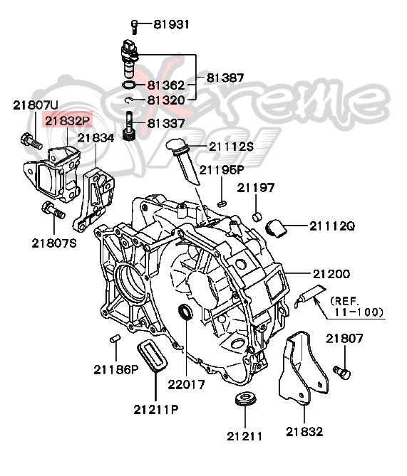 OEM Transmission Mount Bracket: Mitsubishi Lancer EVO VIII & IX