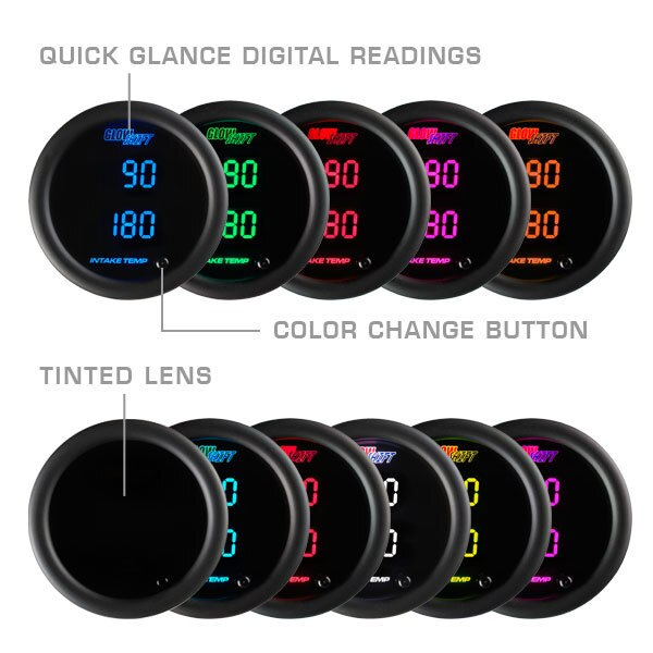 Glow Shift 10 Color Digital Dual Intake Temperature Gauge