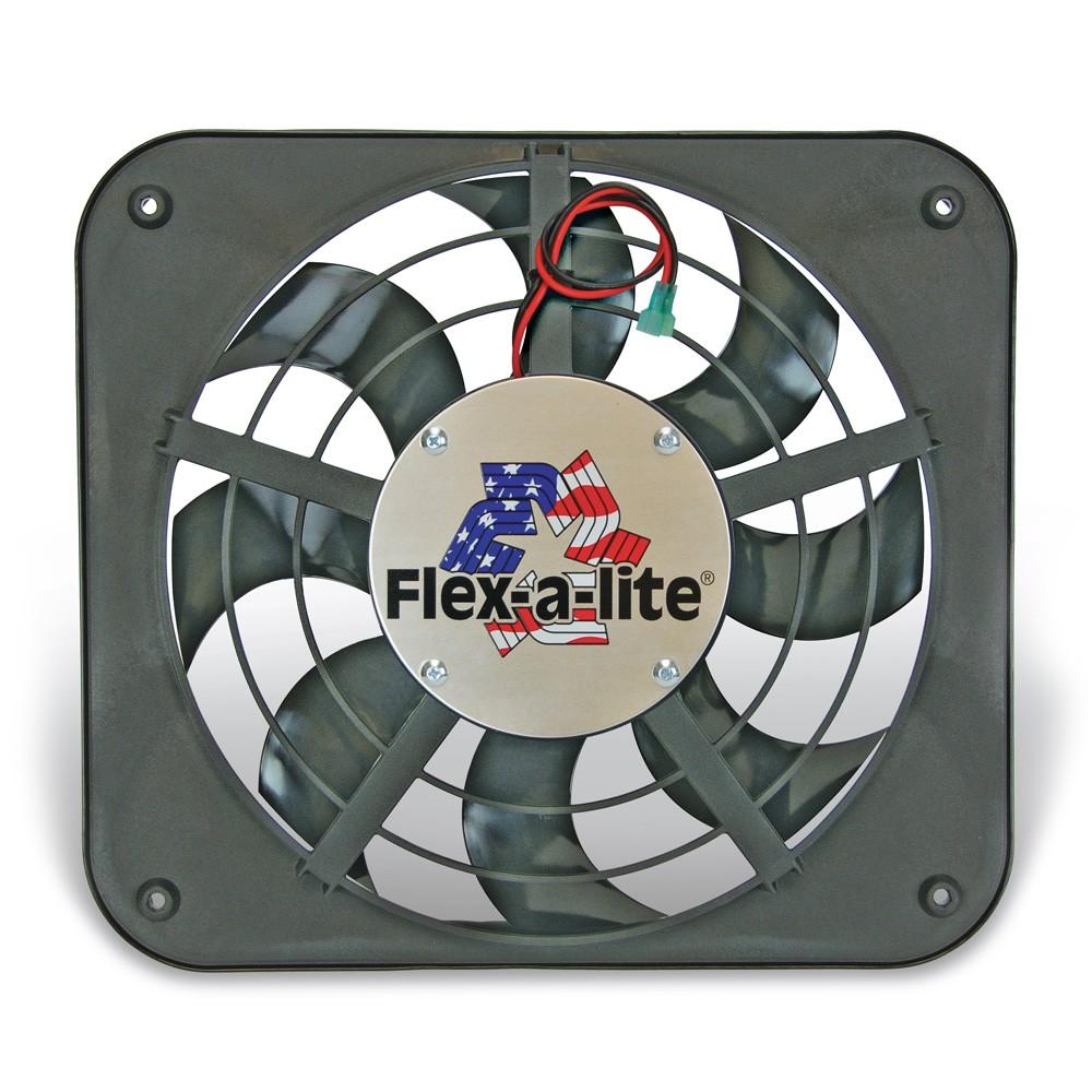 Flex-A-Lite 12 1/8-inch Lo-Profile S-Blade Puller Electric fan
