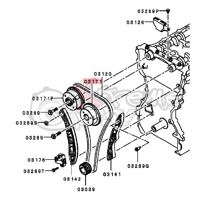 OEM Mitsubishi Intake Camshaft Sprocket: Mitsubishi EVO X 4B11