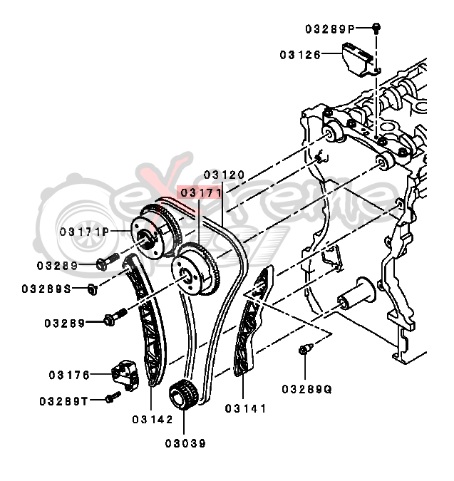 OEM Mitsubishi Exhaust Camshaft Sprocket: Mitsubishi EVO X 4B11