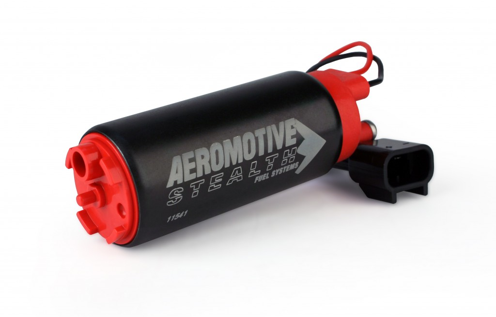 Aeromotive 340 LPH E85 Stealth Fuel Pump: Offset Inlet, Opposite w/ Outlet