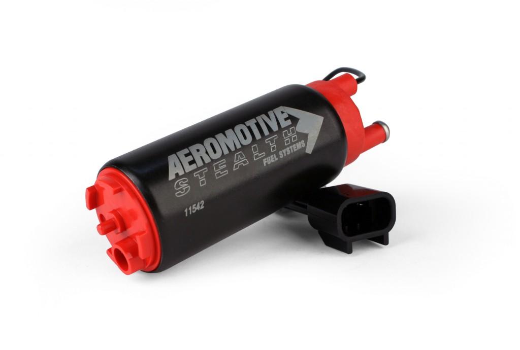 Aeromotive 340 LPH E85 Stealth Fuel Pump: Offset Inlet, Inline w/ Outlet