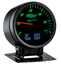 Glow Shift 3in1 Black Face Boost, Digital Exhaust Temp and Temperature Gauge