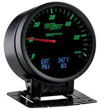 Glow Shift 3in1 Black Face Boost, Digital Exhaust Temp and Pressure Gauge