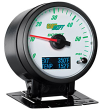 Glow Shift 3in1 White Face Boost and Digital Exhaust Temp and Temperature Gauge