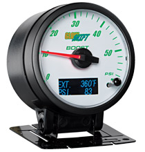 Glow Shift 3in1 White Face Boost and Digital Exhaust Temp and Pressure Gauge
