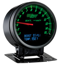 Glow Shift 3in1 Black Face Exhaust Temp, Digital Boost and Temperature Gauge