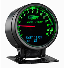 Glow Shift 3in1 Black Face Exhaust Temp, Digital Boost and Pressure Gauge