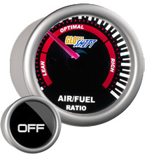 Glow Shift Tinted Series Needle Air/Fuel Ratio Gauge