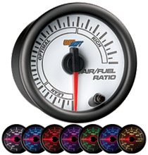 Glow Shift White 7 Color Series Needle Air/Fuel Ratio Gauge