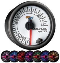 Glow Shift White 7 Color Series Needle Air/Fuel Ratio Gauge