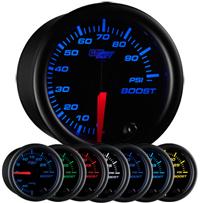 Glow Shift Black 7 Color Series 100 PSI Boost Gauge