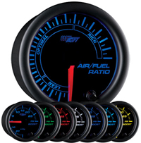 Glow Shift Black 7 Color Series Needle Air/Fuel Ratio Gauge
