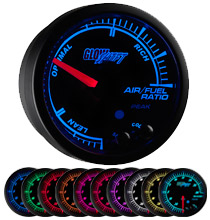 Glow Shift Elite 10 Color Series Air/Fuel Ratio Gauge