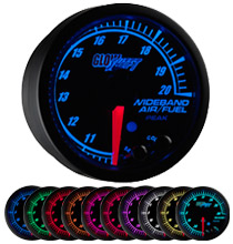 Glow Shift Elite 10 Color Series Wideband Air/Fuel Gauge