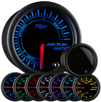 Glow Shift Tinted 7 Color Series Needle Air / Fuel Ratio Gauge