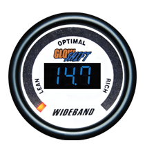 Glow Shift White 7 Color Series Digital Wideband Air/Fuel Gauge