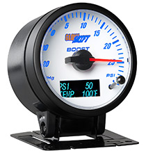 Glow Shift 3in1 White Dial Boost/Vacuum and Digital Pressure and Temperature Gauge