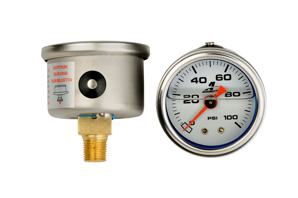 "Aeromotive Fuel Pressure Gauge (1/8"" NPT): 0-100 PSI"