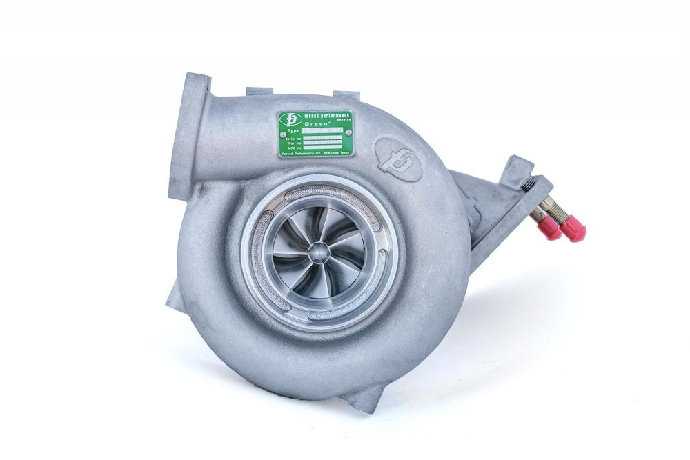 "Forced Performance ""UHF GREEN"" Ball Bearing Turbocharger: Mitsubishi Evolution IX"