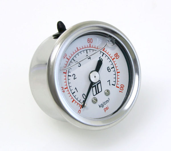 Turbosmart Fuel Pressure Regulator Gauge: 100 PSI