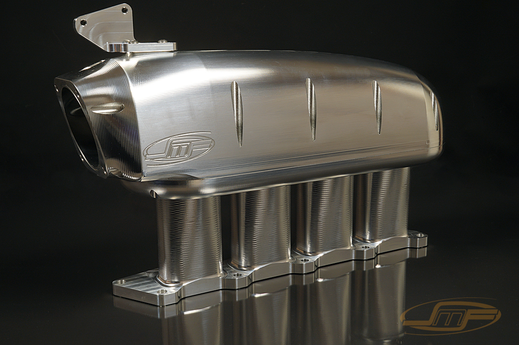 "JM Fab ""Drag Version"" Billet Sheetmetal Intake Manifold: Mitsubishi Eclipse 1990-1994 **NEW VERSION**"