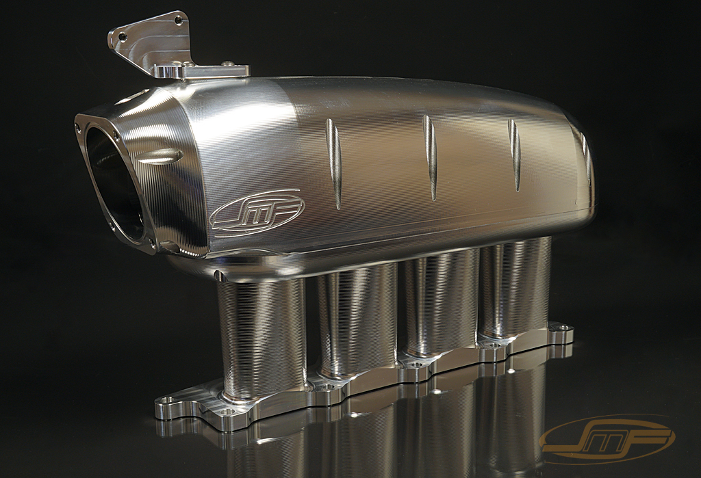 "JM Fab ""Drag Version"" Billet Sheetmetal Intake Manifold: Mitsubishi Eclipse 1995-1999 **NEW VERSION**"