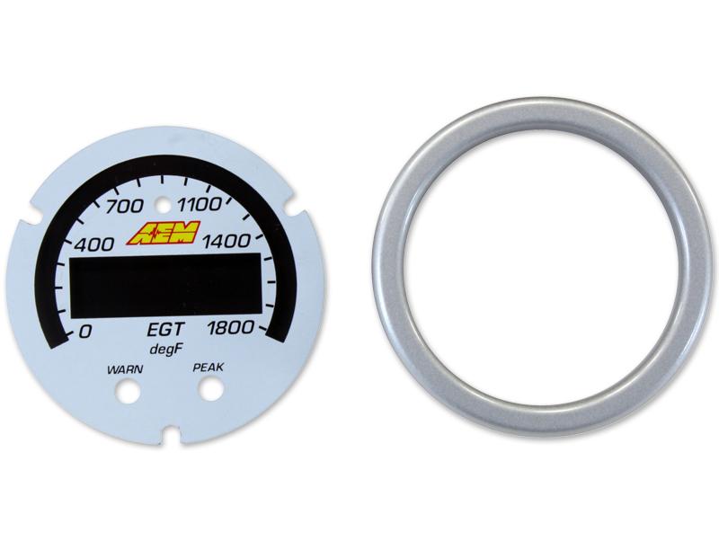 AEM X-Series EGT Gauge 0~1800F / 0~1000C Accessory Kit (Silver Bezel & White Faceplate)